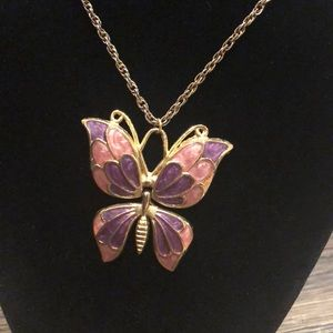 Jewelry - Long Gold Butterfly Necklace